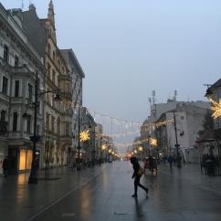 P街上的聖誕裝飾燈