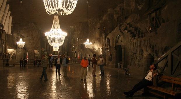 Cavern Salt Floor Tiles Wieliczka Salt Mine Poland